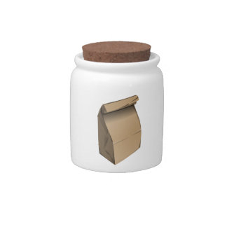 Sack Lunch Candy Jars