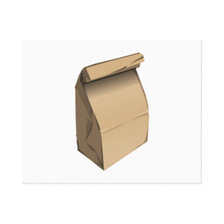 Sack Lunch Gallery Wrapped Canvas