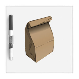 Sack Lunch Dry Erase Boards