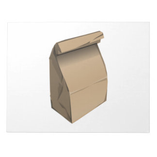 Sack Lunch Memo Note Pads