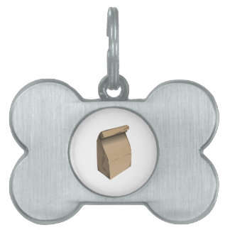 Sack Lunch Pet ID Tag