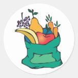 sack of fresh fruit sticker
