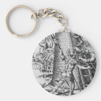 Sack of Rome by Maerten van Heemskerck Basic Round Button Keychain