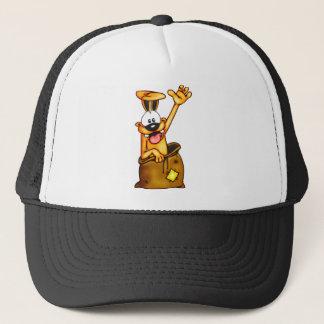 Sack Race Cartoon Dog Trucker Hat