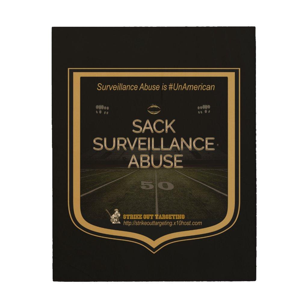 Sack Surveillance Abuse Wood Art