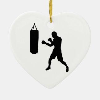 Saco de arena del boxeo ornaments para arbol de navidad
