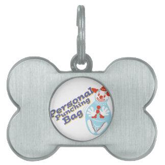 Saco de arena personal placa de mascota