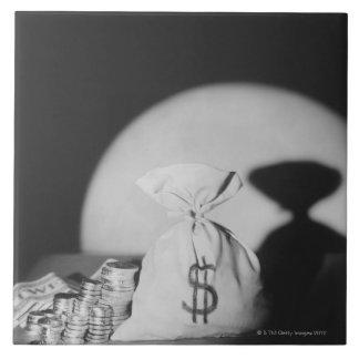 Saco de dinero azulejo cuadrado grande