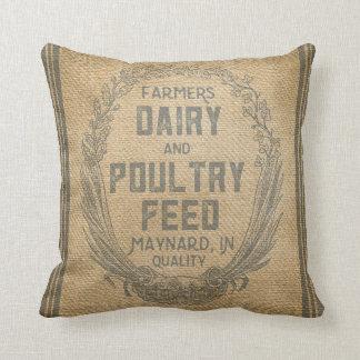 Saco de la alimentación de la arpillera del almohada