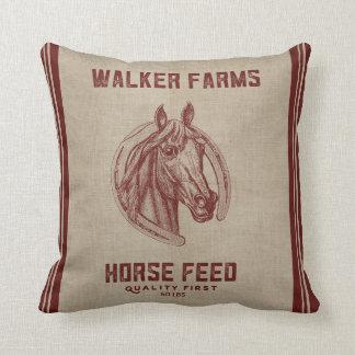 Saco de la alimentación del caballo de granjas del cojín decorativo