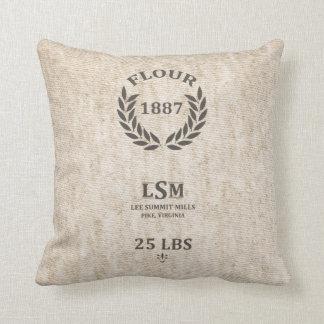 Saco de la harina del vintage almohada