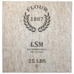 Saco de la harina del vintage servilletas