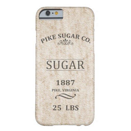 Saco del azúcar del vintage funda de iPhone 6 barely there