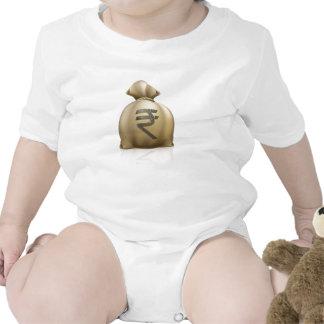 Saco del dinero de la rupia camisetas