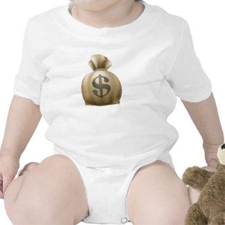 Saco del dinero del dólar traje de bebé