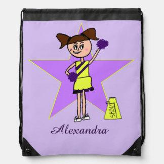 Saco púrpura y amarillo de la cincha de la mochilas
