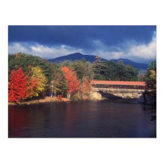 Saco River Covered Bridge Autumn Storm Postcards