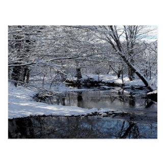 Saco River New Hampshire Winter Snow Postcard