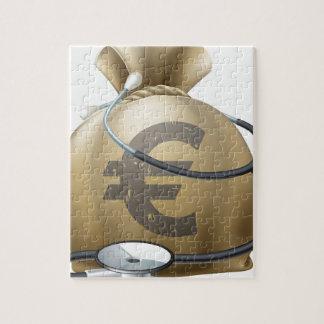 Saco y estetoscopio euro del dinero puzzles