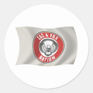 Saco y pegatina de la bandera de la nación del Fox