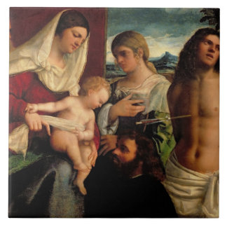 Sacra Conversatione with SS. Catherine, Sebastian Ceramic Tile