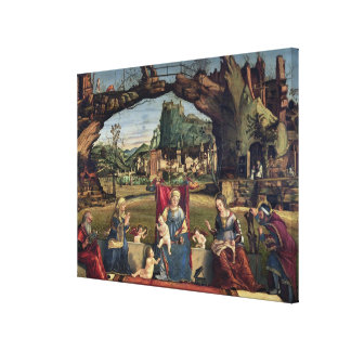 Sacra Conversazione, c.1500 (oil on panel) (for de Canvas Print