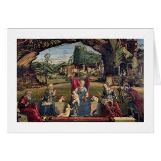 Sacra Conversazione, c.1500 (oil on panel) (for de Card