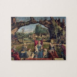 Sacra Conversazione, c.1500 (oil on panel) (for de Jigsaw Puzzle