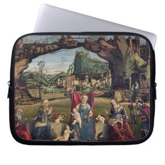 Sacra Conversazione, c.1500 (oil on panel) (for de Laptop Sleeve