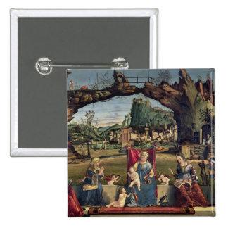 Sacra Conversazione, c.1500 (oil on panel) (for de Pinback Button