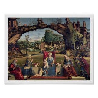 Sacra Conversazione, c.1500 (oil on panel) (for de Poster