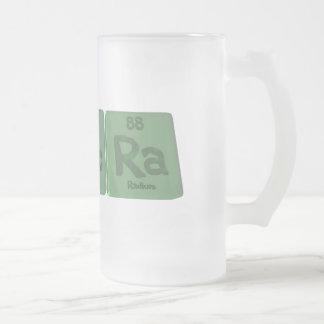 Sacra-S-Ac-Ra-Sulfur-Actinium-Radium.png Frosted Glass Beer Mug