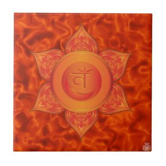 Sacral Chakra Ceramic Tile