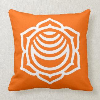 Sacral Chakra Energy Throw Pillow