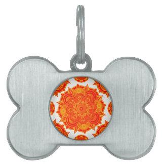 Sacral Chakra Mandala Pet Name Tag