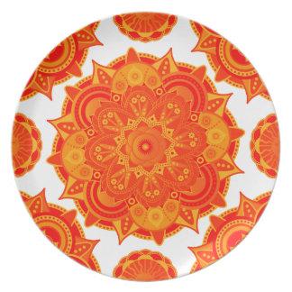 Sacral Chakra Mandala Plate