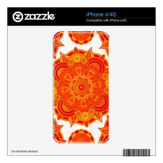 Sacral Chakra Mandala Skins For iPhone 4