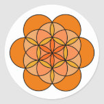 Sacral Flower of Life Classic Round Sticker