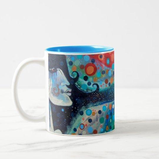 """Sacral Immersion"" Original Artwork Two-Tone Coffee Mug"
