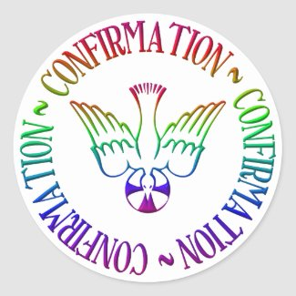 Sacrament of Confirmation - Descent of Holy Spirit Classic Round Sticker