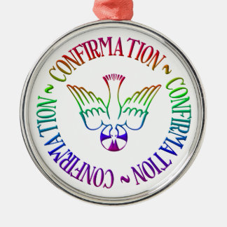 Sacrament of Confirmation - Descent of Holy Spirit Round Metal Christmas Ornament