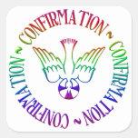 Sacrament of Confirmation - Descent of Holy Spirit Square Sticker