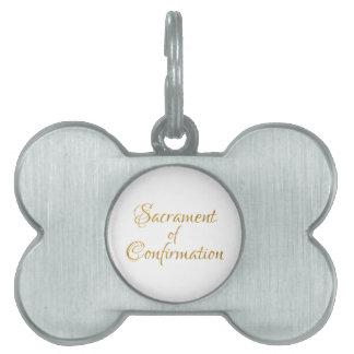 Sacrament of Confirmation Golden 3D Look Pet Tag