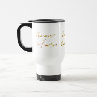 Sacrament of Confirmation Golden 3D Look Travel Mug