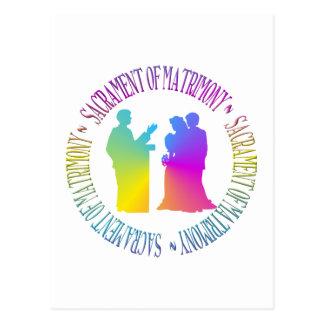 Sacrament of Matrimony Postcard