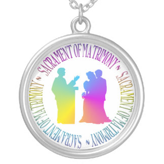 Sacrament of Matrimony Silver Plated Necklace