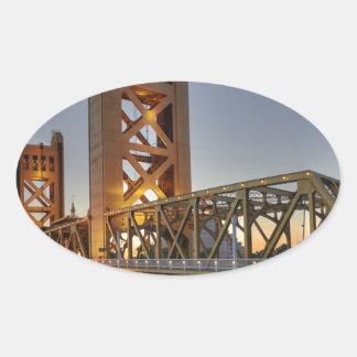 Sacramento 2 oval sticker