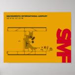 Sacramento Airport (SMF) Diagram Poster