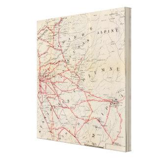 Sacramento, Amador, Calaveras, San Joaquin Gallery Wrapped Canvas