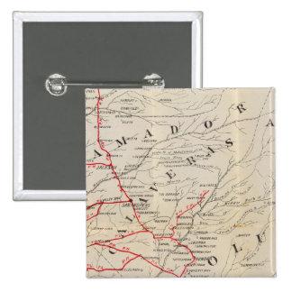 Sacramento, Amador, Calaveras, San Joaquín Pin Cuadrada 5 Cm